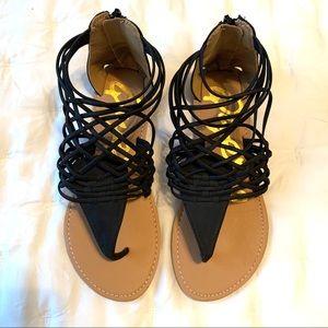 Black Qupid Sandals